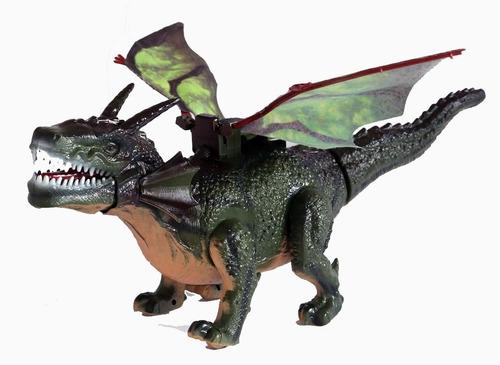 brinquedo dragao 45 cm que bate asas e anda dinossauro