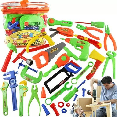 brinquedo edicativo 32 peças ferramentas
