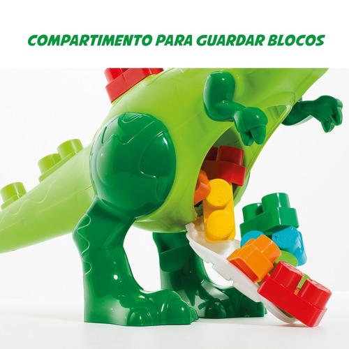 brinquedo educativo babyland dino blocos de montar com som