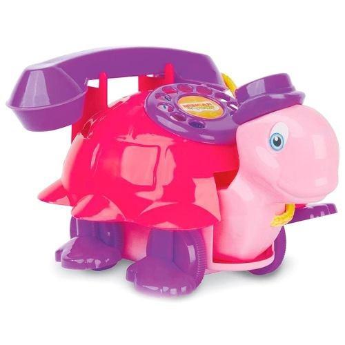 brinquedo educativo bebê baby land teltaluga rosa - cardoso