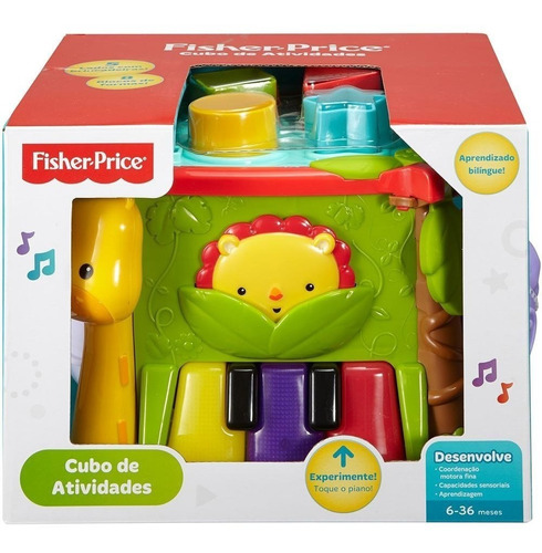 brinquedo educativo - cubo de atividades - fisher price
