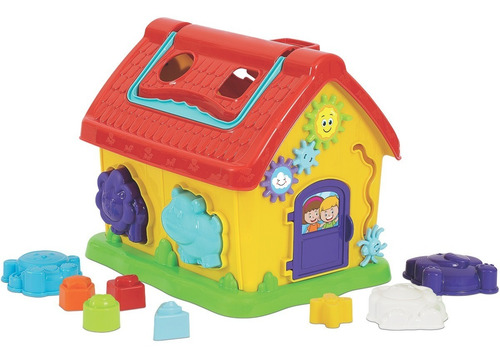 brinquedo educativo encaixe bebê casinha da dinda aranha