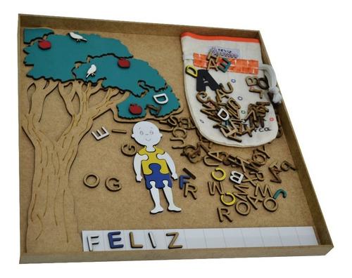 brinquedo educativo jogo da forca em mdf