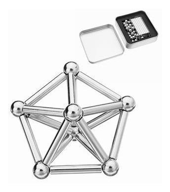 brinquedo educativo magnético de montar imã 63 peças neocube