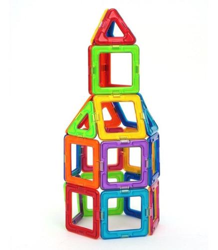 brinquedo educativo montar magnético 30 peças maleta 3d