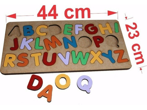 brinquedo encaixe alfabeto educativo pedagógico madeira mdf