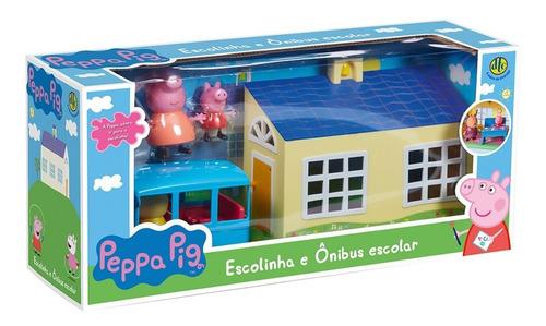 brinquedo escolinha e onibus escolar peppa pig da dtc 4858