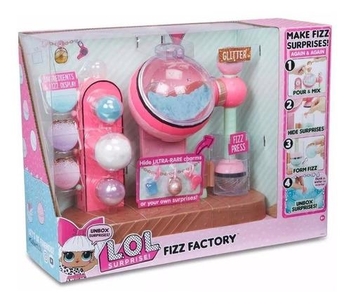 brinquedo fábrica de bonecas lol surprise fizz factory