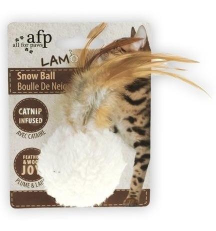 brinquedo gato bola pelo snow ball afp com som de chocalho