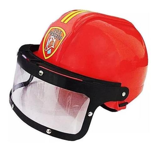 brinquedo infantil capacete de bombeiro s.o.s regaste .