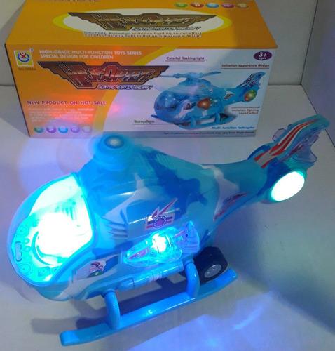 brinquedo infantil helicóptero bate e volta com luz e som