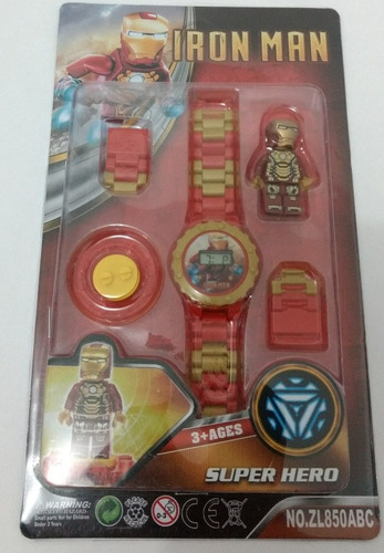 brinquedo infantil relogio digital marvel homemde ferro p/e.