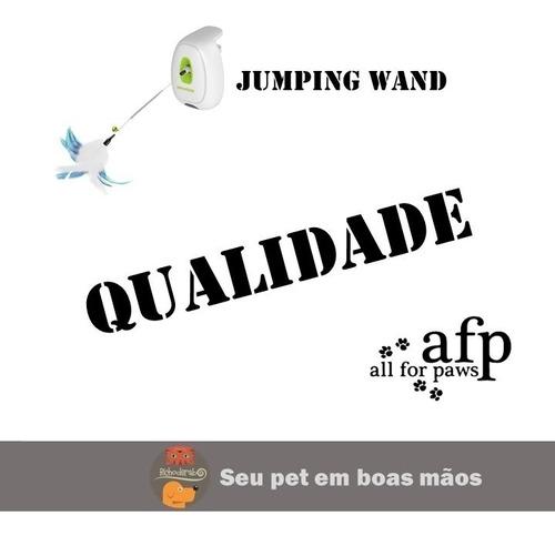 brinquedo interativo para gato c/ movimento jumping wand afp
