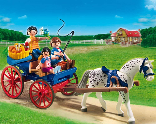 brinquedo lacrado playmobil carruagem puxada a cavalos 5226
