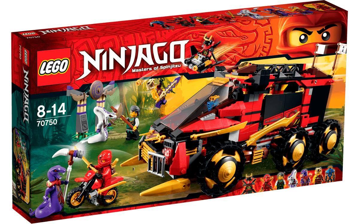 Brinquedo lego ninjago 70750 carro ninja com 756 pe as - Lego ninjago voiture ...