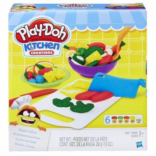 Brinquedo Massinha Play Doh Kitchen Moldar E Fatiar B9012