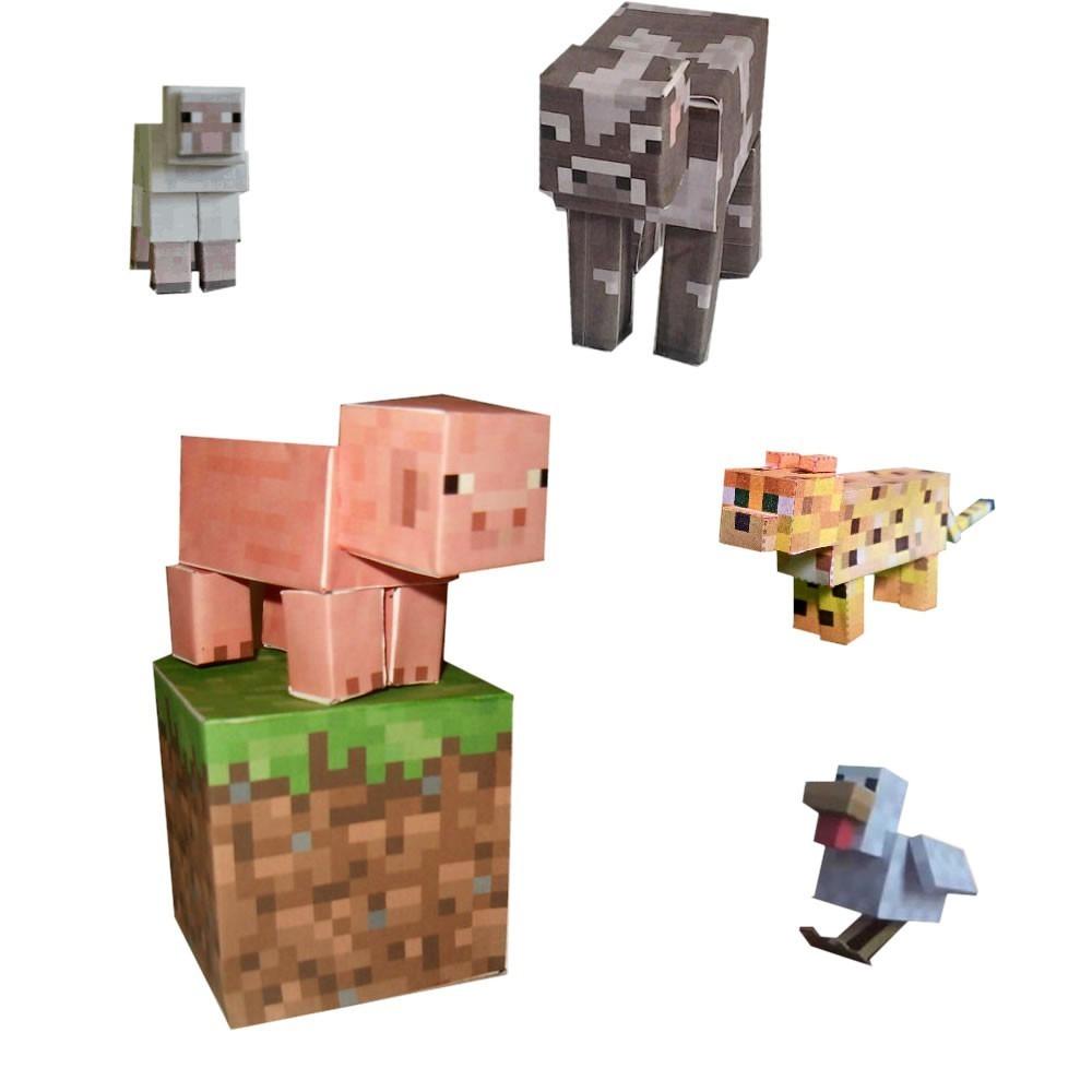 brinquedo minecraft animal mobs montaveis multikids br147 r 14