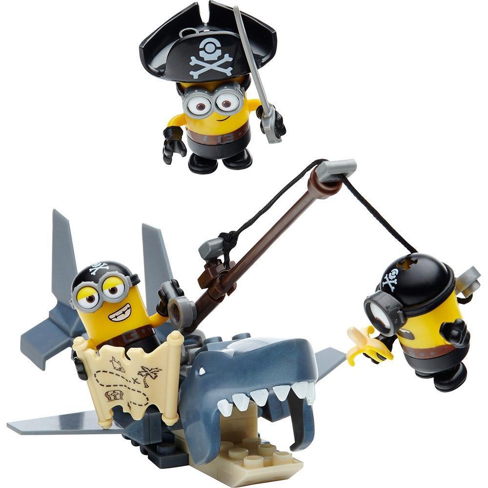 Shark Bait 72 Piece Construction Set With 3 Figures Minions Mega Bloks