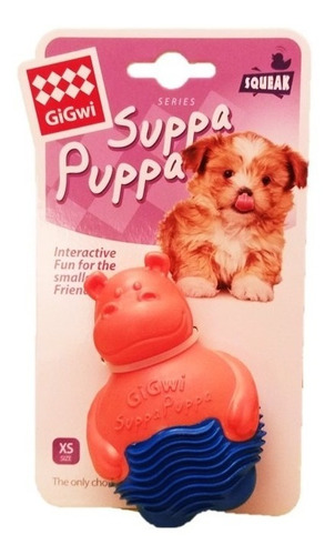 brinquedo mordedor p/ filhote ou cachorro  de pequeno porte puppa suppa gigwi sonoro