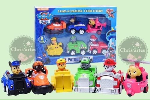 brinquedo natal kit carrinhos da patrulha canina 6 carros!