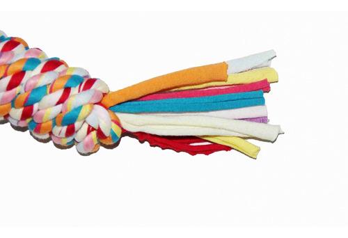 brinquedo p/ cachorro corda trançada brinde lacinhos pawise