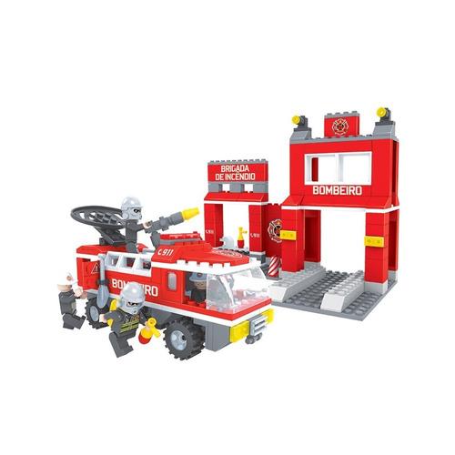 brinquedo p/ montar - estação bombeiro - 301 peças