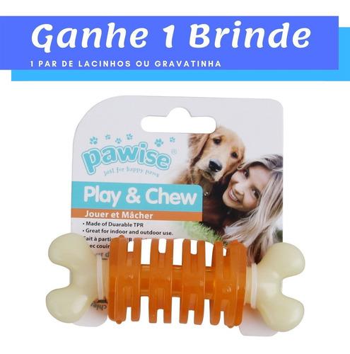 brinquedo para cachorro mordedor osso c/ anéis p pawise