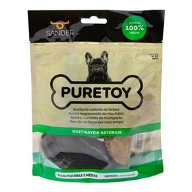 Brinquedo Para Cães Mordedor Natural Casco De Boi Puretoy