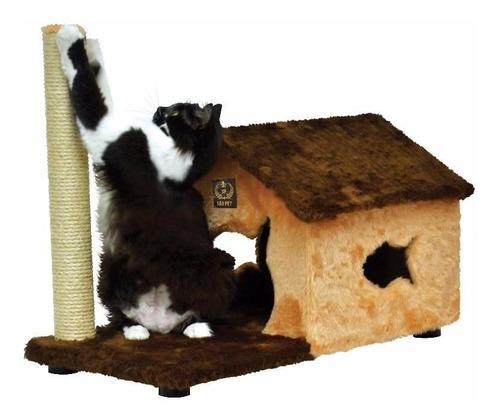 brinquedo para gatinhos com pelucia e sisal casa grande