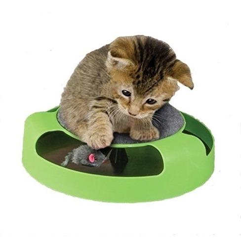 brinquedo para gato com arranhador interativo pegue o rato