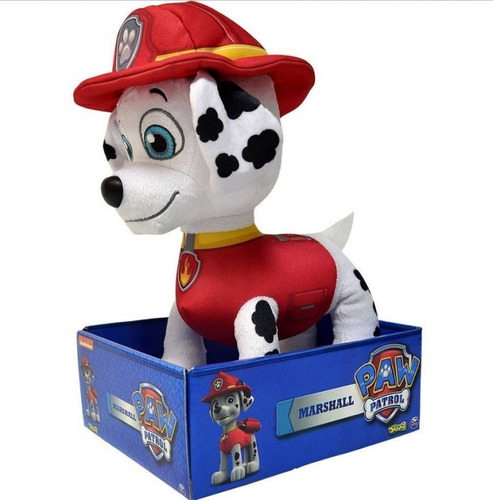brinquedo patrulha canina pelúcia marshall 30cm - sunny 1327