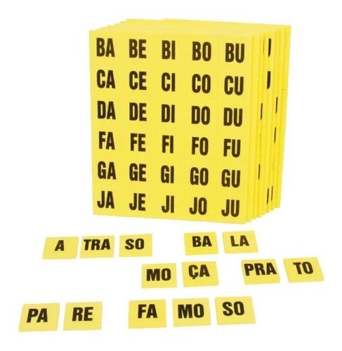 brinquedo pedagógico alfabeto silábico educativo eva 360 pçs