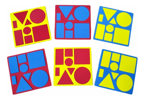 brinquedo pedagógico bloco lógico educativo eva 48 pçs