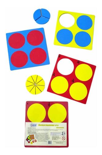 brinquedo pedagógico educativo círculos fracionais