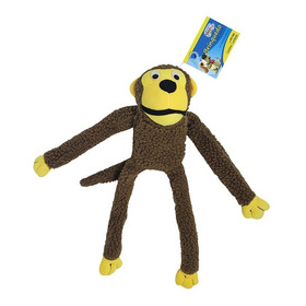 Brinquedo Pelúcia Com Apito Para Cães Macaco