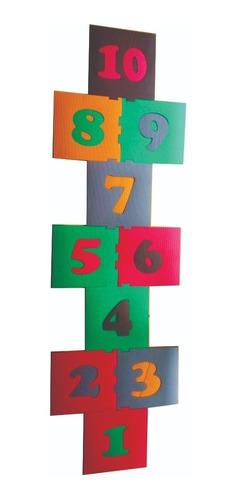 brinquedo playground infantil amarelinha 10 pç 40x40cm 10mm