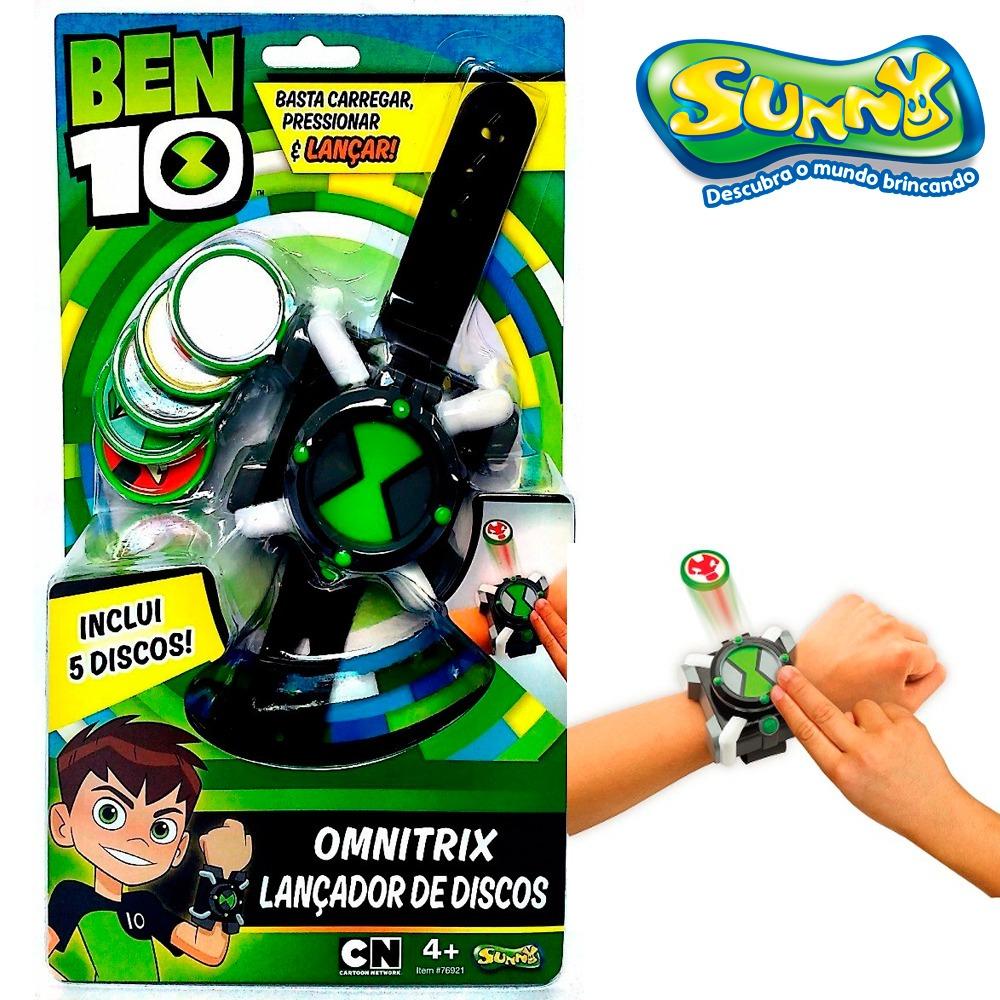 b2de24f6451 brinquedo relógio ben 10 omnitrix lançador + 5 discos sunny. Carregando  zoom.