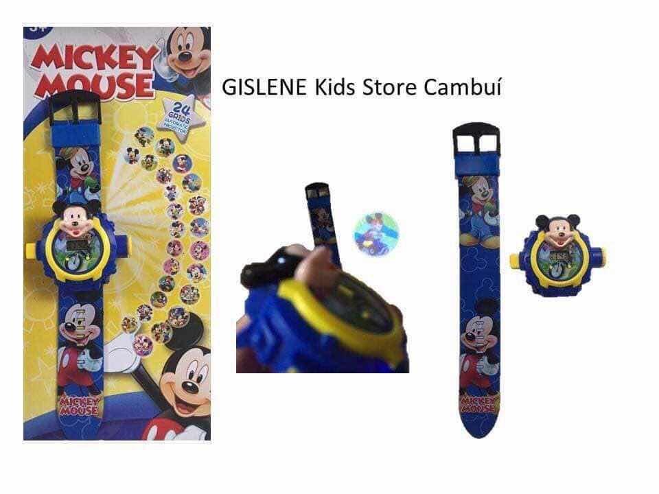cf4f4de6acf brinquedo relógio infantil mickey mouse projetor 24 imagens. Carregando  zoom.