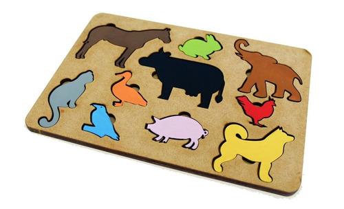 brinquedo tabuleiro animais fazendinha educativo pedagógico
