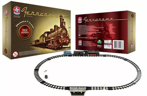 brinquedo trem ferrorama xp 100 edição comemorativa estrela