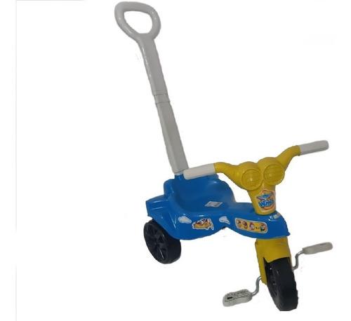 brinquedo triciculo velotrol infantil com empurrador