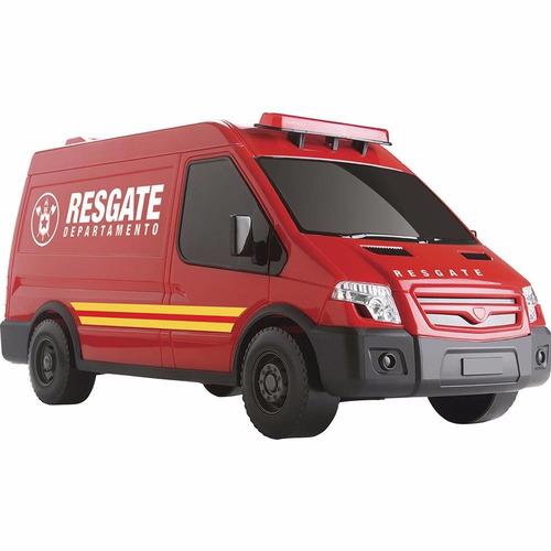 brinquedo van resgate e onibus executivo kit