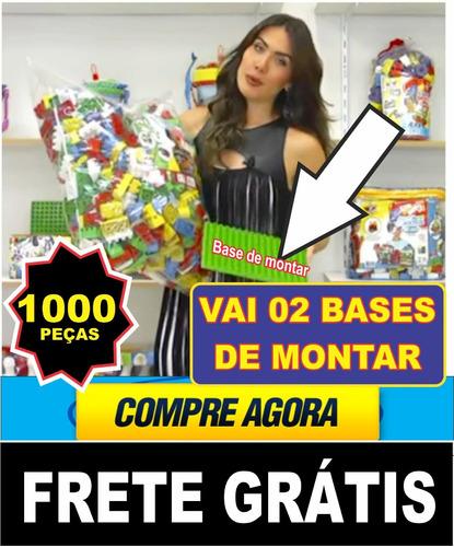 brinquedos  blocos de montar duplo 1000 peças + 02 bases
