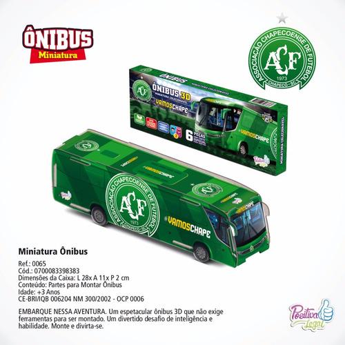 brinquedos licenciados da chapecoense - ônibus 3d