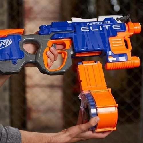 brinquedos menino nerf elite hyperfire metralhadora b7661