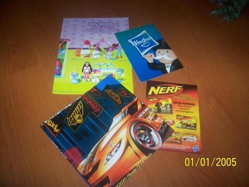 brinquedos panfletos hasbro hotwheels nerf e polly