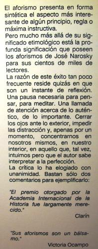 brisas aforismos josé narosky editor javier vergara año 1987