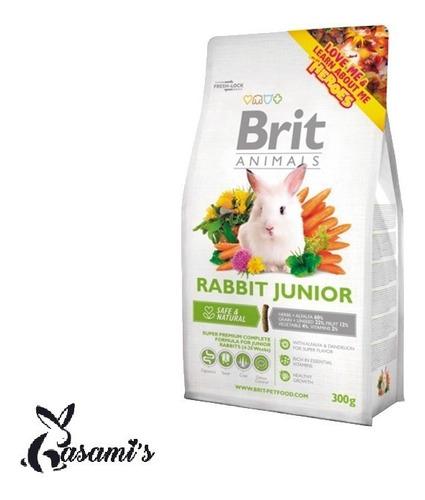 brit animals rabbit 300gr - alimento para conejos lima