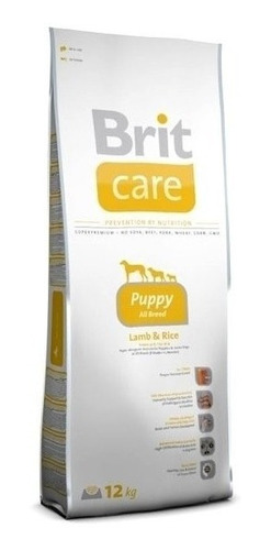 brit care puppy all breed lamb & rice de 12 kilos peso neto.