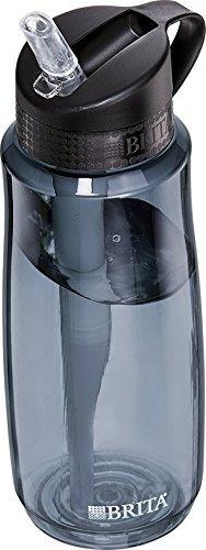 brita duro cara botella de filtro de agua, gris, 23,7 onzas